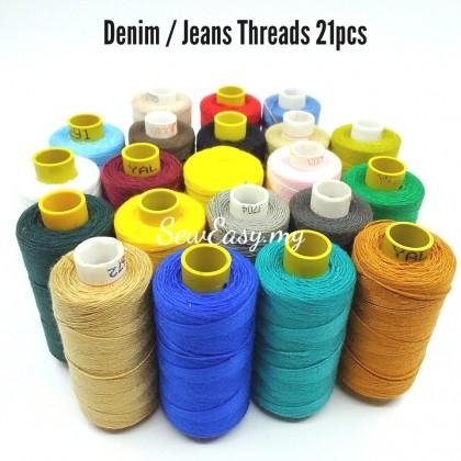 200Meters Denim Sewing Threads / Benang Jeans