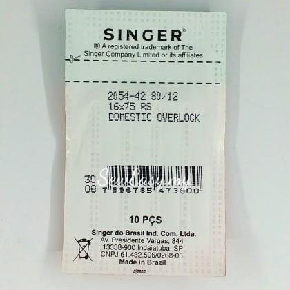 Genuine Singer 2054-42 #80/12 Serger Needles / Jarum Jahit Tepi