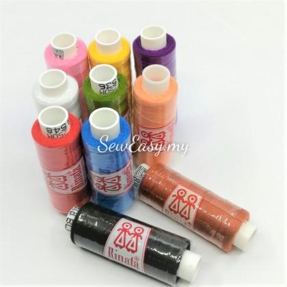 10pcs Rinata 250Meter Benang Jahit Biasa Spun Polyester Thread
