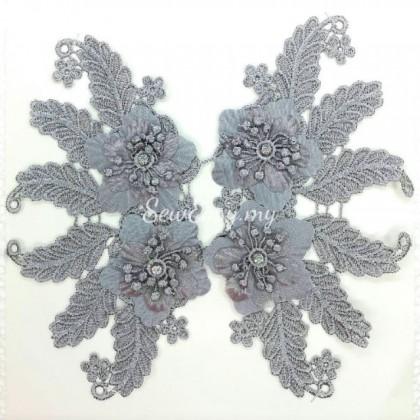 3D Flower Patch Lace (1 Pasang)